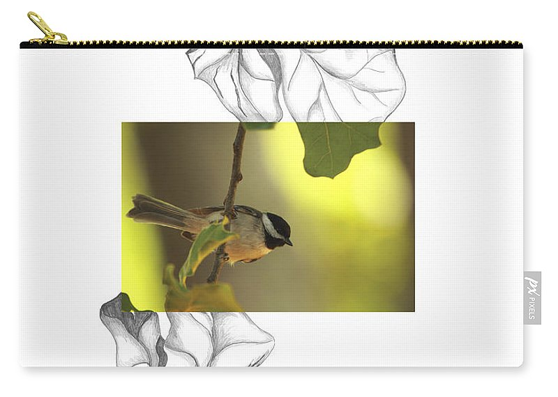 Carolina Chickadee Carry-all Pouch featuring the photograph Carolina Chickadee by Andrew McInnes
