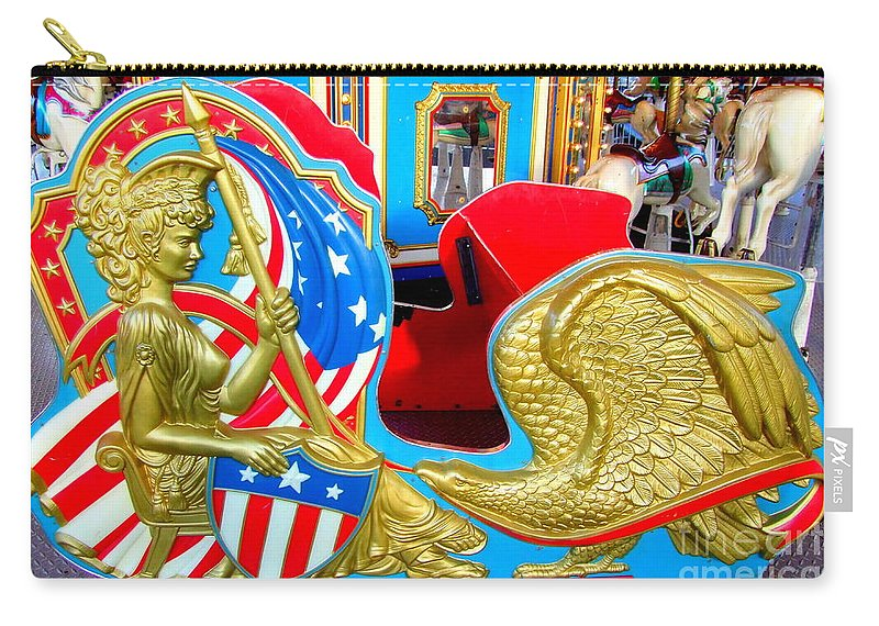 Carousel Chariot Carry-all Pouch featuring the photograph Carousel Chariot by Mary Deal