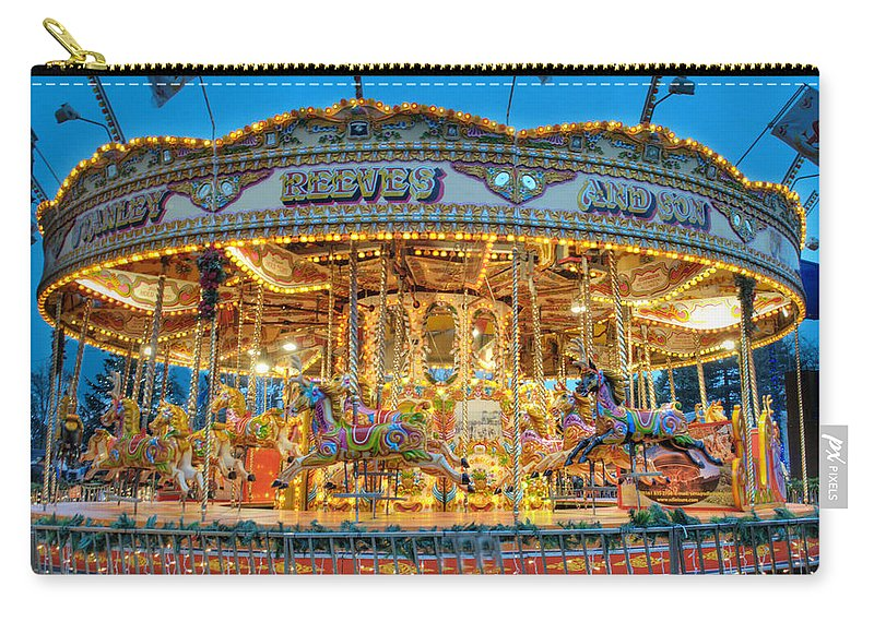 Carousel Carry-all Pouch featuring the photograph Carousel In Bournemouth by Chris Day