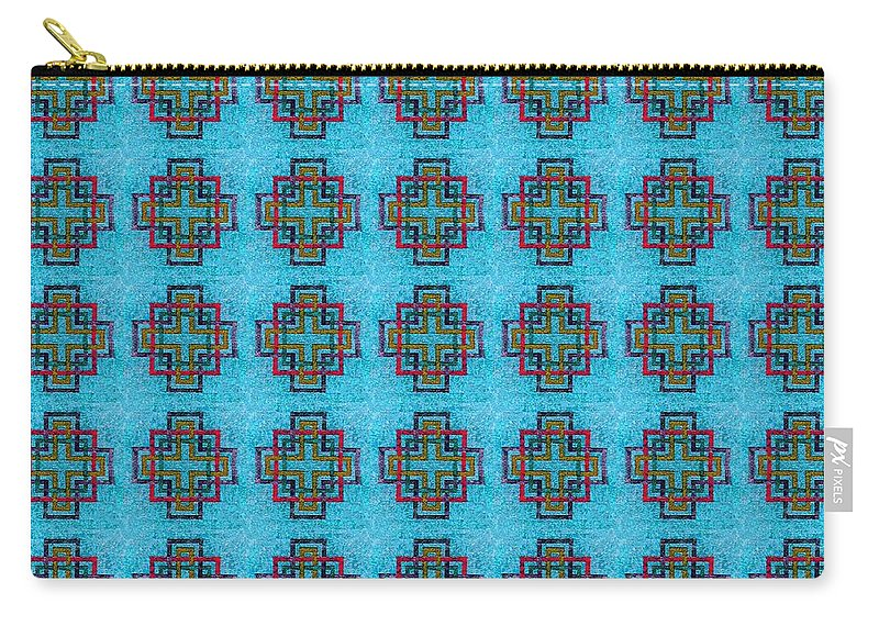 Carpenters Square Blue Carry-all Pouch featuring the digital art Carpenters Square Blue by Barbara Griffin
