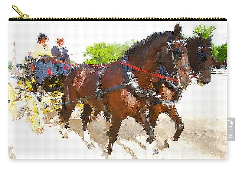 Carriage Carry-all Pouch featuring the photograph Carriage Artistic by Alice Gipson