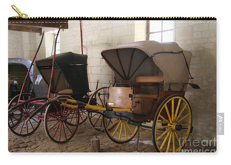 Carriage Carry-all Pouch featuring the photograph Carriage - Chateau Usse by Christiane Schulze Art And Photography