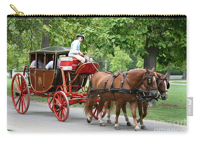 Carriage Carry-all Pouch featuring the photograph Carriage by Christiane Schulze Art And Photography