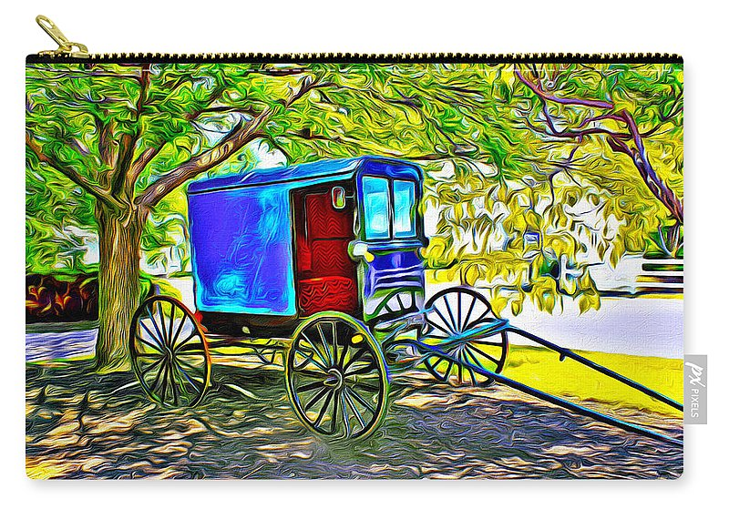 Buggy Carry-all Pouch featuring the photograph Amish Carriage by Carlos Diaz