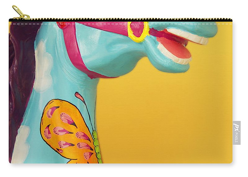 Carrosel Horse Carry-all Pouch featuring the photograph Carrosel Horse by Bob Pardue