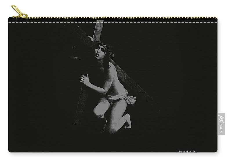 Experimental Carry-all Pouch featuring the photograph Carrying The Cross by Ramon Martinez