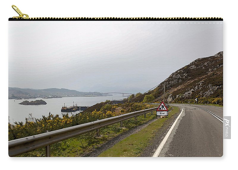 Canon Carry-all Pouch featuring the digital art Cartoon - Road Along The Loch Alsh In The Scottish Highlands by Ashish Agarwal