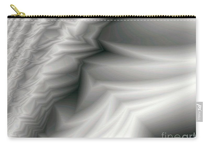 Fractal Carry-all Pouch featuring the digital art Carved Ivory by Ron Bissett