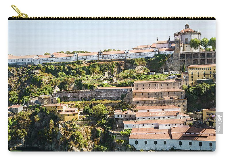 Clear Sky Carry-all Pouch featuring the photograph Casa Calem, Port Wine Houses, Porto by John Harper