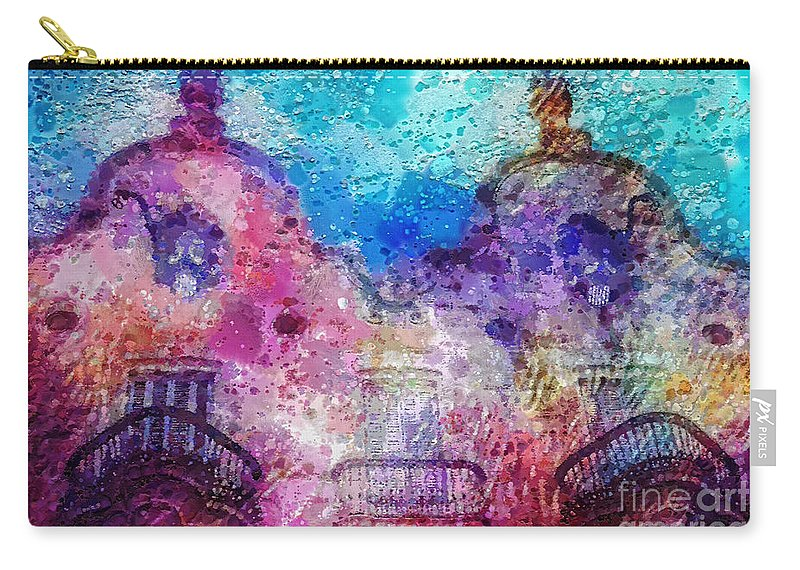 Casa Calvet Carry-all Pouch featuring the painting Casa Calvet by Mo T