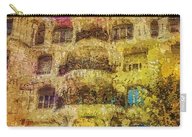 Casa Mila Carry-all Pouch featuring the painting Casa Mila by Mo T