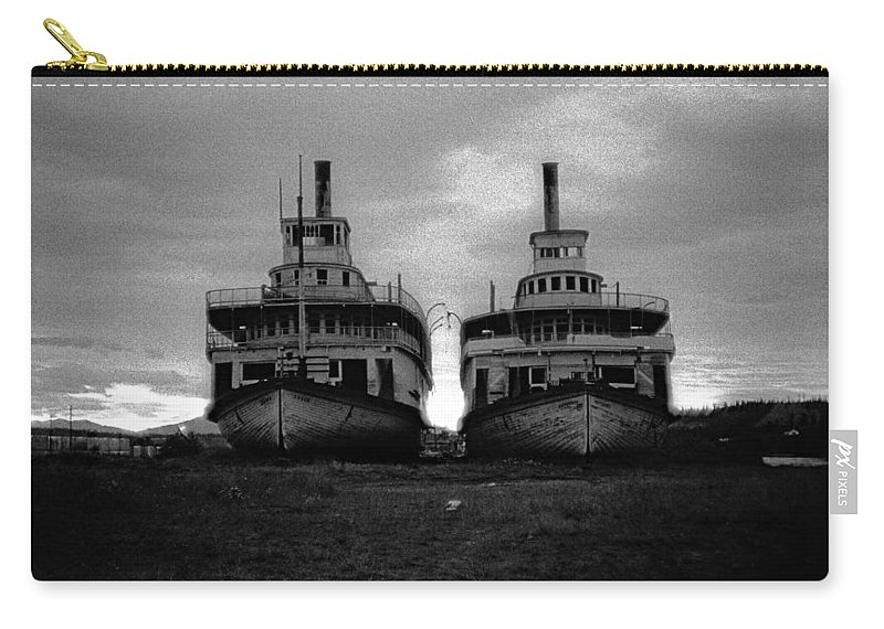Casca And Whitehorse Carry-all Pouch featuring the photograph Casca And Whitehorse by Marty Saccone