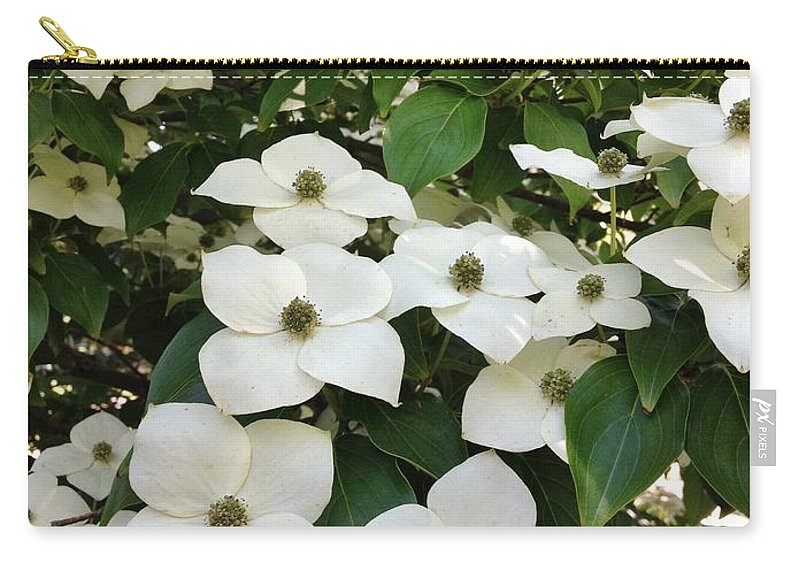 Flowers Carry-all Pouch featuring the photograph Cascade by Jean Goodwin Brooks