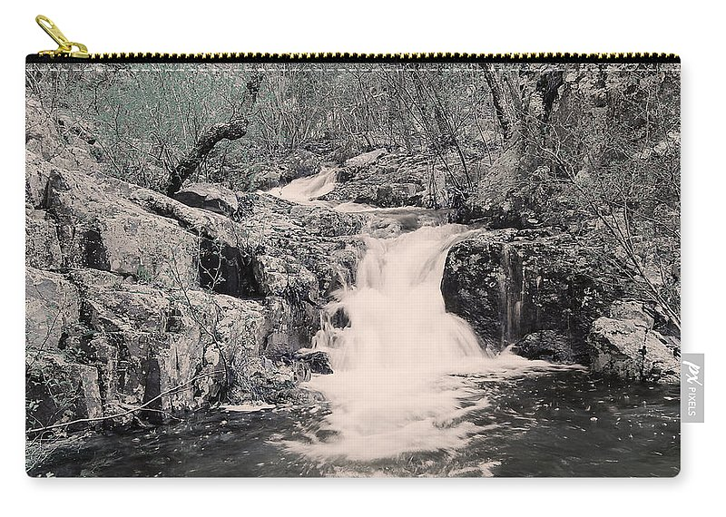 Waterfall Carry-all Pouch featuring the photograph Cascade On Taum Sauk Mountain 2 by Greg Matchick