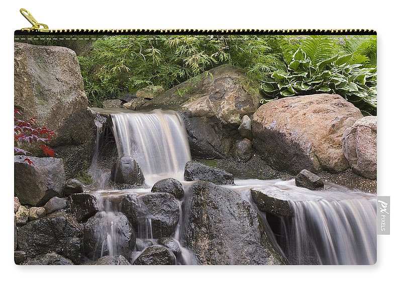 3scape Carry-all Pouch featuring the photograph Cascade Waterfall by Adam Romanowicz