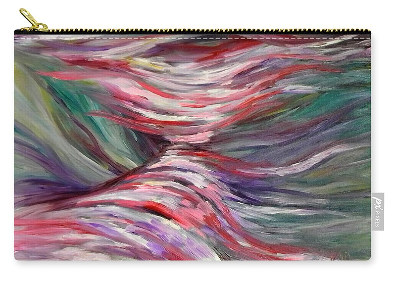 Abstract Carry-all Pouch featuring the painting Cascades by Art by Kar