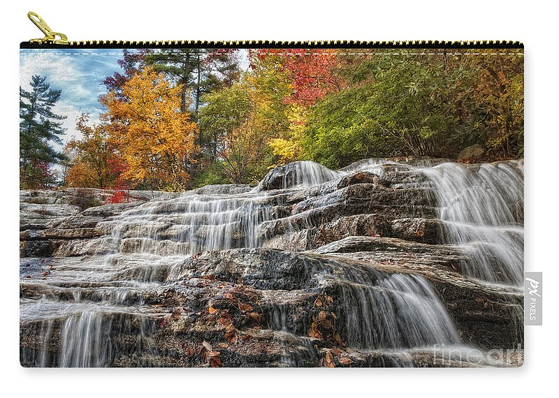 Waterfalls Carry-all Pouch featuring the photograph Cascading by Claudia Kuhn