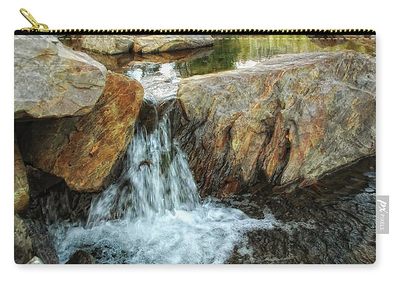 Yuba River Carry-all Pouch featuring the photograph Cascading Downward by Donna Blackhall