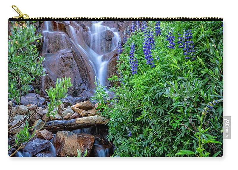 Water Carry-all Pouch featuring the photograph Cascading Falls by Dianne Phelps