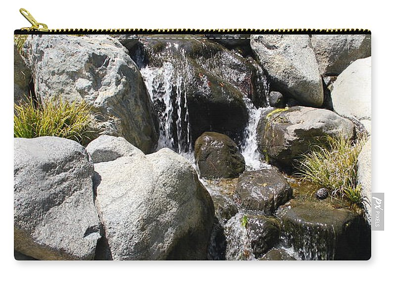 Waterfall Carry-all Pouch featuring the photograph Cascading Water by Denise Mazzocco