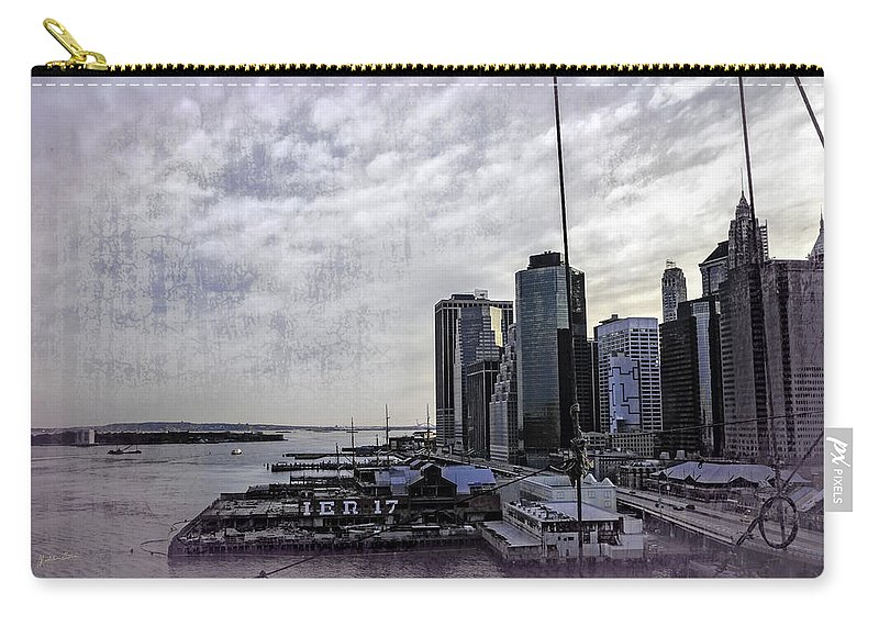 Pier 17 Carry-all Pouch featuring the photograph Case Of The Missing P Aka As Pier 17 by Madeline Ellis