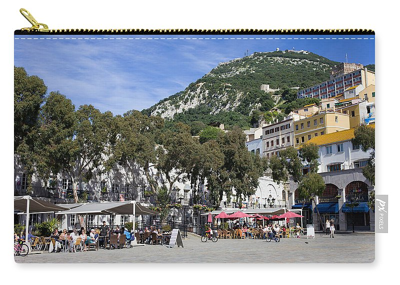Casemates Carry-all Pouch featuring the photograph Casemates Square In Gibraltar by Artur Bogacki