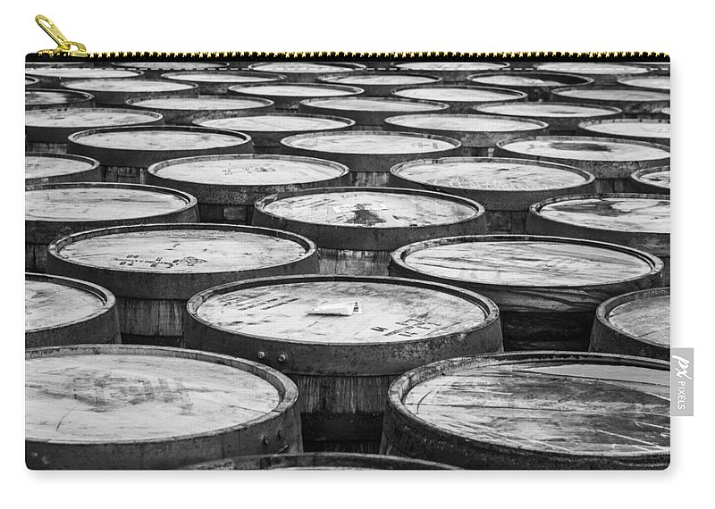 Whisky Carry-all Pouch featuring the photograph Casks by Ralf Kaiser