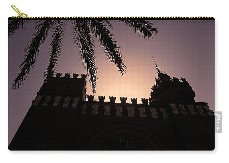 Europe Carry-all Pouch featuring the photograph Castell Dels Tres Dragons ... by Juergen Weiss