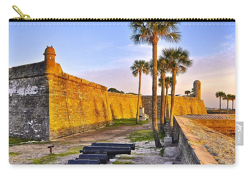 Florida Carry-all Pouch featuring the photograph Castillo Sunrise by Re Dub