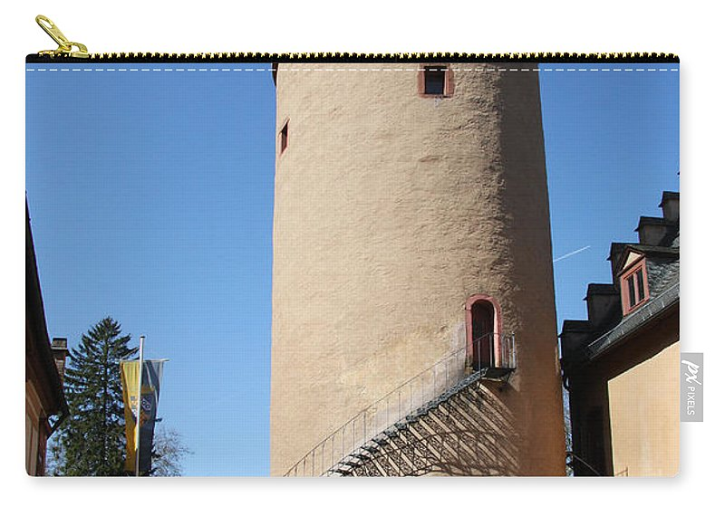 Castle Carry-all Pouch featuring the photograph Castle Courtyard by Christiane Schulze Art And Photography