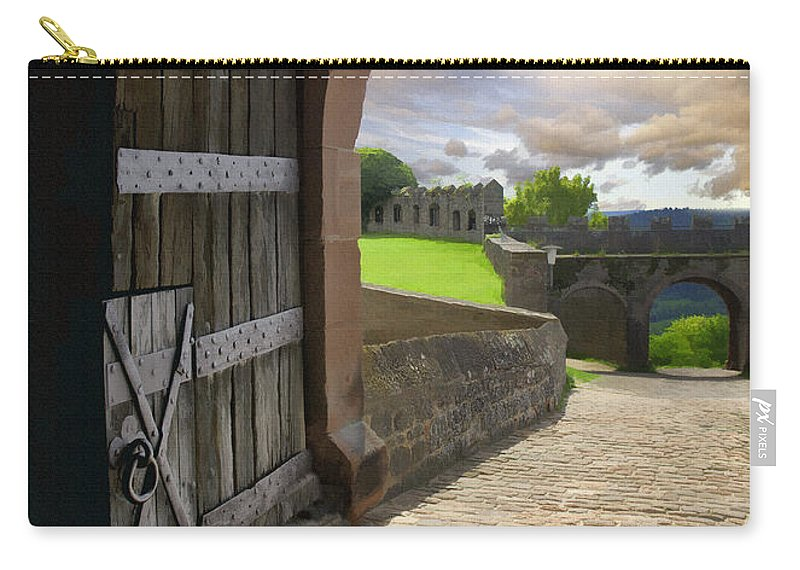 Castle Carry-all Pouch featuring the photograph Castle Door by Sharon Foster