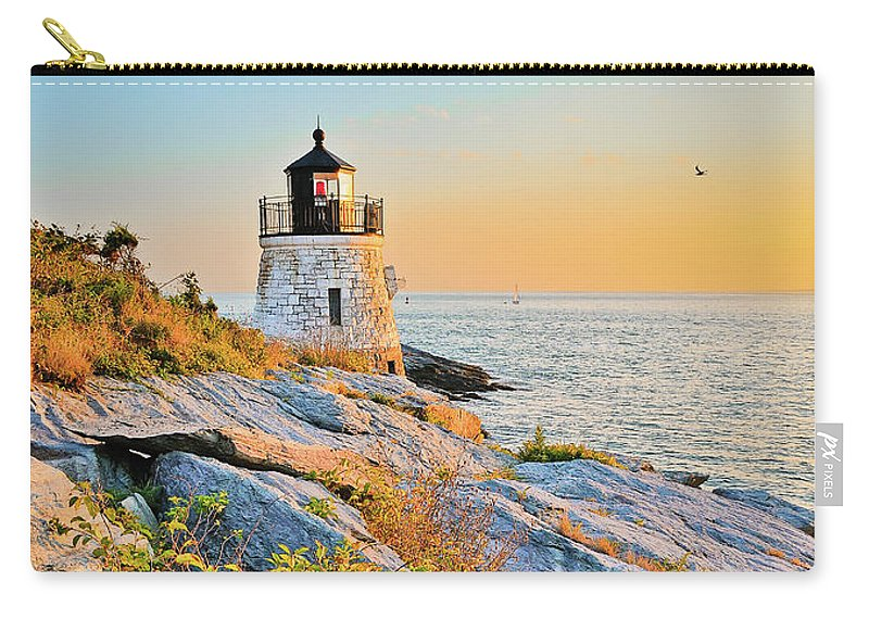 Castle Carry-all Pouch featuring the photograph Castle Hill Lighthouse 1 Newport by Marianne Campolongo