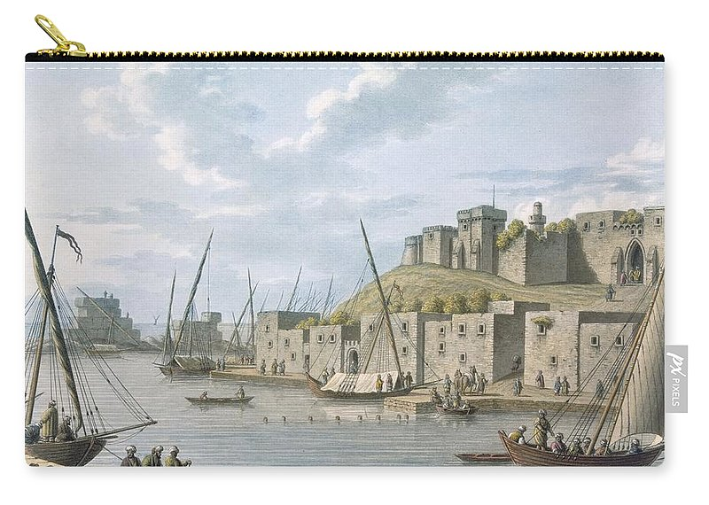 Castle Carry-all Pouch featuring the drawing Castle In The Island Of Tortosa, 1805 by William Watts