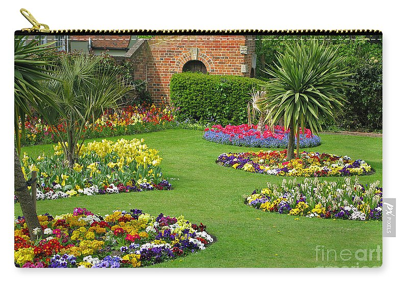 Garden Carry-all Pouch featuring the photograph Castle Park Gardens by Ann Horn