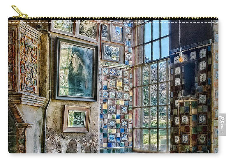 Byzantine Carry-all Pouch featuring the photograph Castle Saloon by Susan Candelario