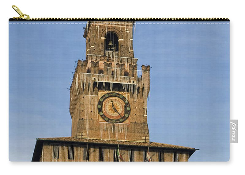 Travel Carry-all Pouch featuring the photograph Castle Sforzesco Milan by Jason O Watson