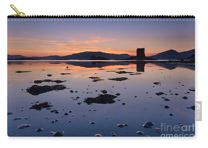 Castle Stalker Carry-all Pouch featuring the photograph Loch Laich And Castle Stalker by Rod McLean