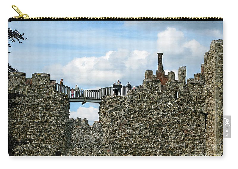 England Carry-all Pouch featuring the photograph Castle Wall Walk by Ann Horn