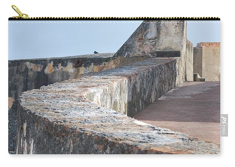 Castle Carry-all Pouch featuring the photograph Castle Walls 2 by Richard Booth