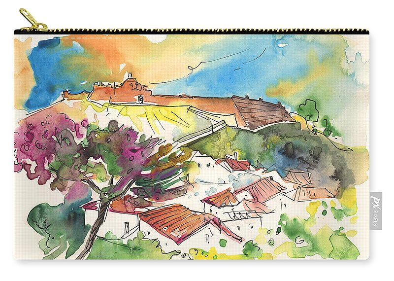 Castro Marim Carry-all Pouch featuring the painting Castro Marim 2008 0207 by Miki De Goodaboom