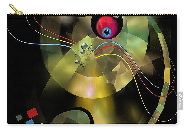 Graphics Carry-all Pouch featuring the digital art Cat 005-13 Marucii by Marek Lutek