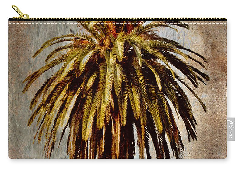 Palm Carry-all Pouch featuring the mixed media Catalina 1932 Postcard by Carol Leigh
