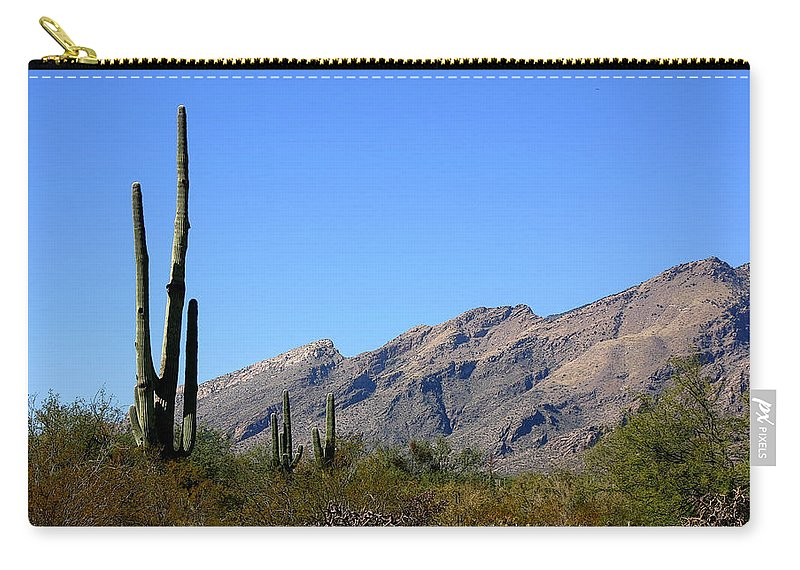 Mountain Carry-all Pouch featuring the photograph Catalinas by Joe Kozlowski