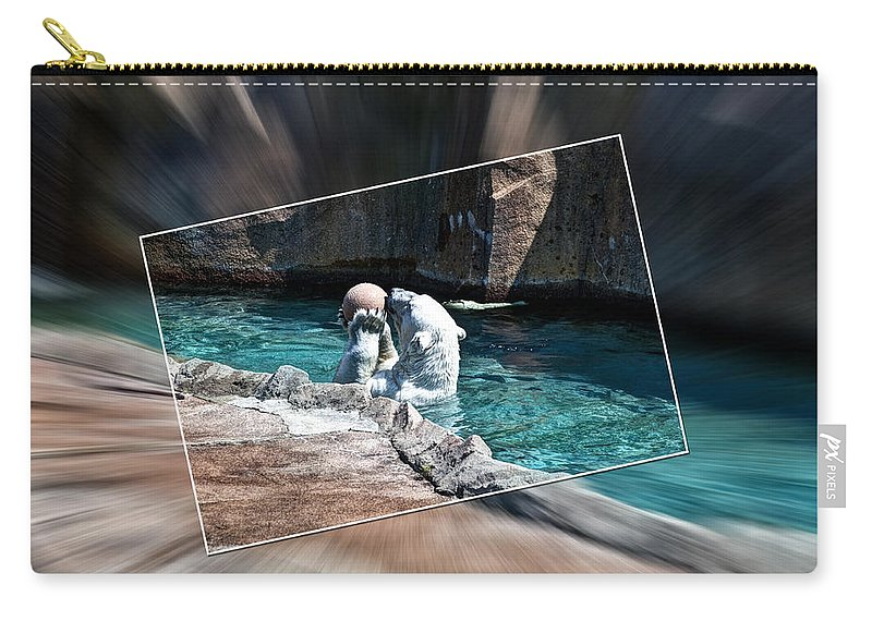 Polar Bear Carry-all Pouch featuring the photograph Catch Of The Day by Deborah Klubertanz