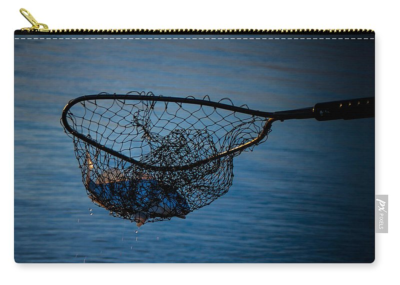 Catching Fish Carry-all Pouch featuring the photograph Catch Of The Day by Mechala Matthews