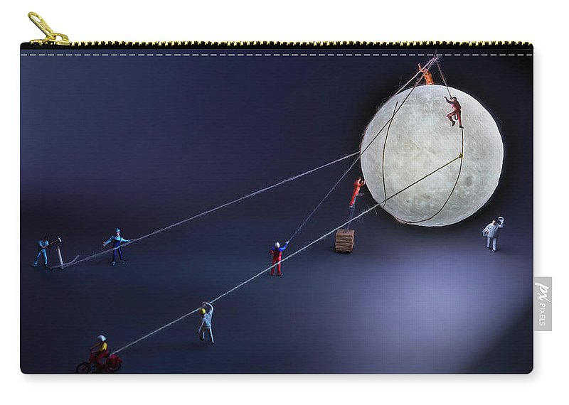 Planetary Moon Carry-all Pouch featuring the photograph Catch The Moon by Antonio Iacobelli