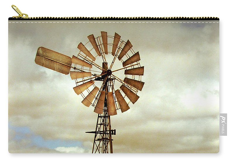Windmill Carry-all Pouch featuring the photograph Catch The Wind by Holly Kempe