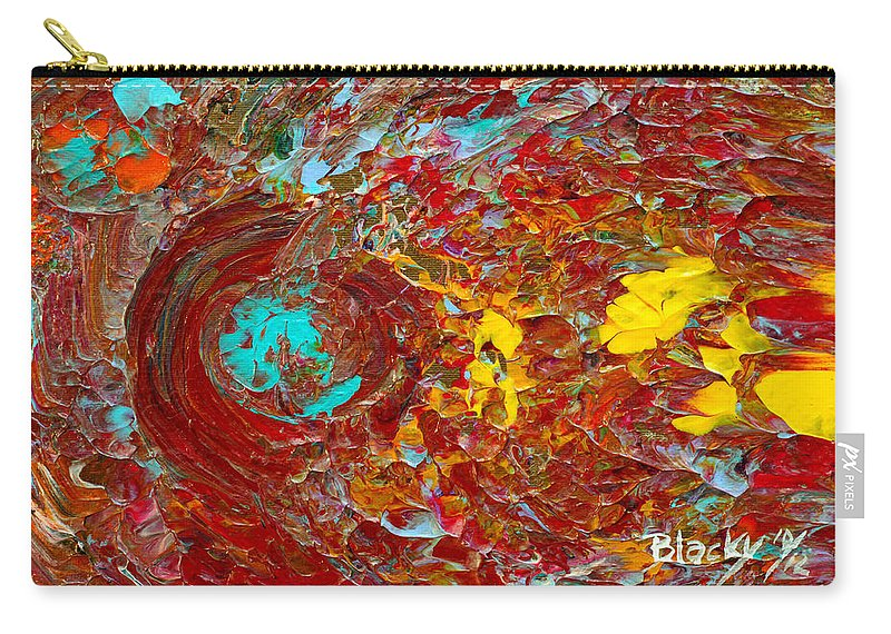 Bold Abstract Carry-all Pouch featuring the painting Catching Fire by Donna Blackhall