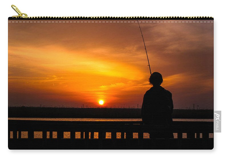Sunset Carry-all Pouch featuring the photograph Catching The Sunset by Mechala Matthews