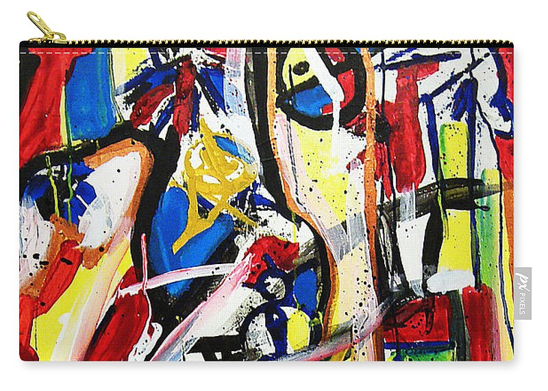 Painting Carry-all Pouch featuring the painting Catharsis by Jeff Barrett